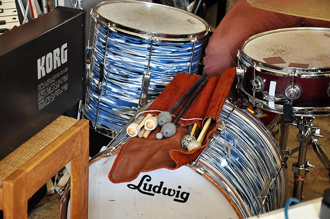 Ben Baker Billington's drum kit, Chicago, 2016 by Chester Alamo-Costello