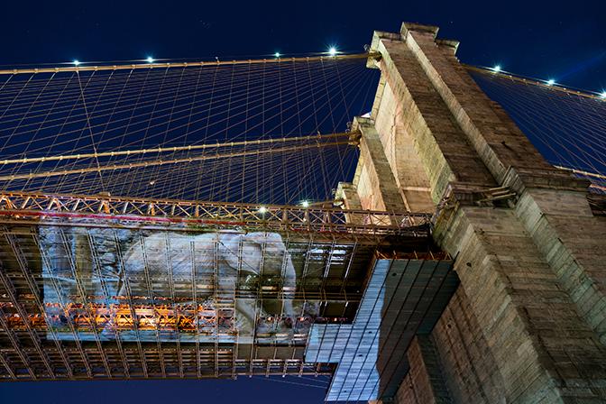 Colleen Plumb, Drumbo (Vienna, Austria) at Brooklyn Bridge, New York City, 2016