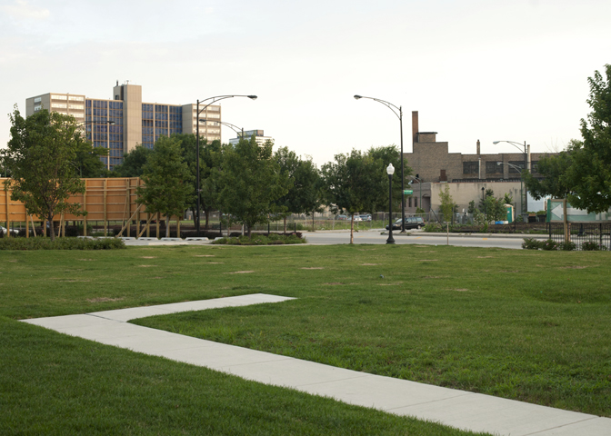 Jason Reblando, New walkway at former site of Cabrini-Green, Chicago, 2010.