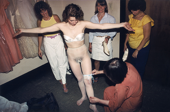 Melissa Ann Pinney, Mother and Attendants Dressing the Bride, 1985